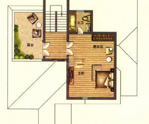 二期云顶E1户型三层 6室2厅6卫1厨301㎡