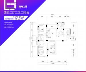 117.3平米户型(四房)_调整大小