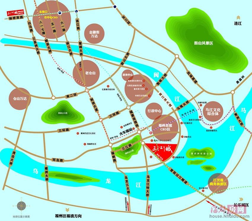 福州城南地图